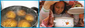 Можно ли беременным дышать над картошкой при простуде