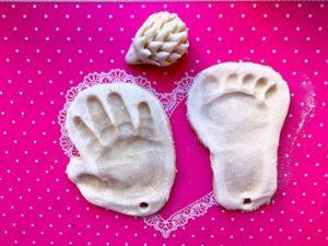 Соленое Тесто Для Лепки Отпечатка Руки Малыша