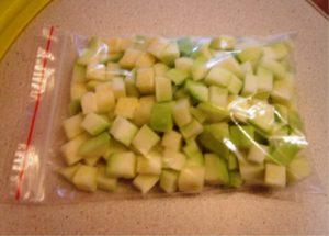Как готовить кабачок для прикорма замороженный
