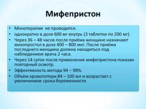 Мифепристон для стимуляции родов через сколько действует 1 таблетка