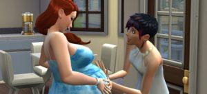 Как узнать что девушка беременна в симс 3