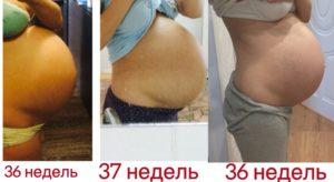 Опустился живот когда рожать 36 недель