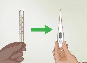 Как правильно сбить ртутный градусник