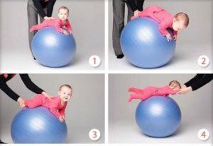 Упражнения На Фитболе Для 4 Месячного Ребенка