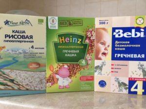 Детские каши без глютена и без молока