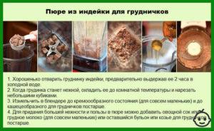 Сколько варить индейку филе для ребенка первый прикорм
