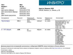 Анализ крови на беременность на ранних сроках цена инвитро