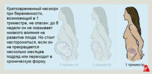 На первых неделях беременности насморк